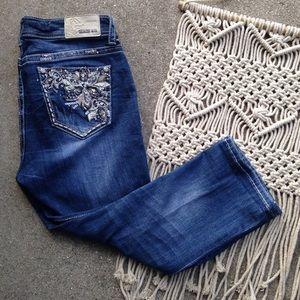 Grace In LA denim capri jeans size 30